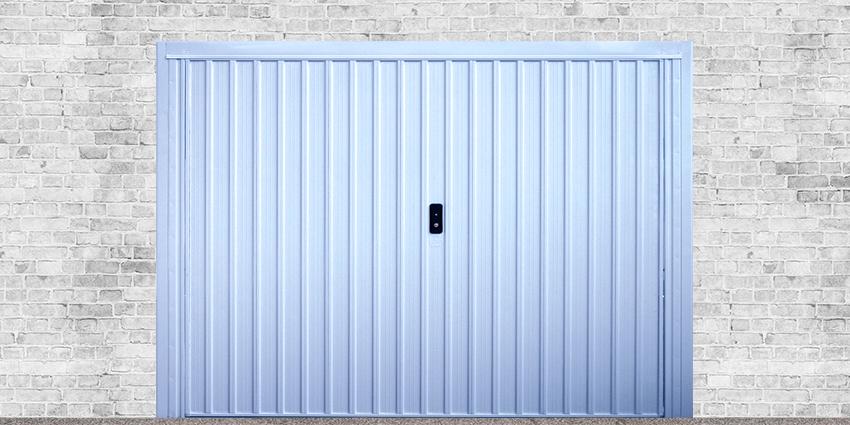 Portoni A Due Ante Per Garage Usato.Porte Basculanti In Acciaio Zincato Luna